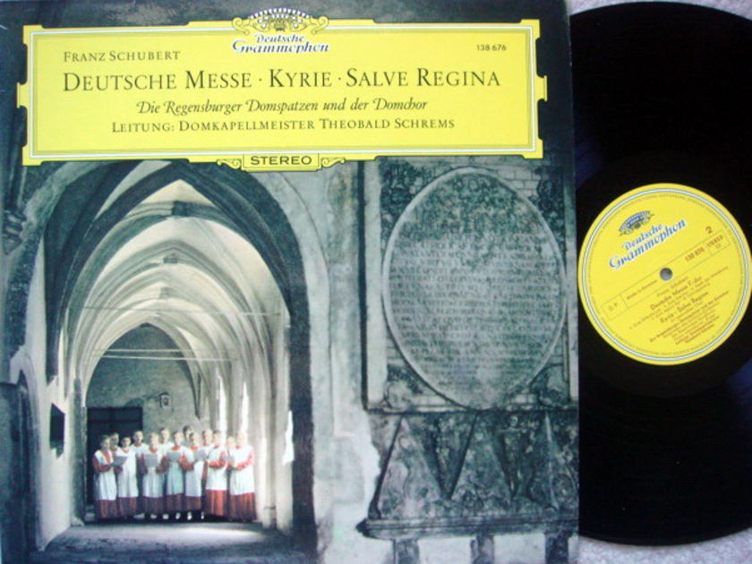 DG / SCHREMS, - Schubert German Mass/Kyrie, Salve Regina, NM!