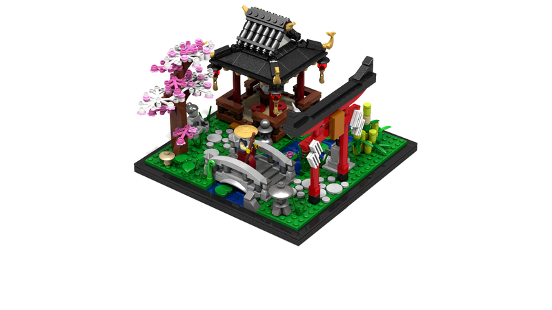 Japan lego garden
