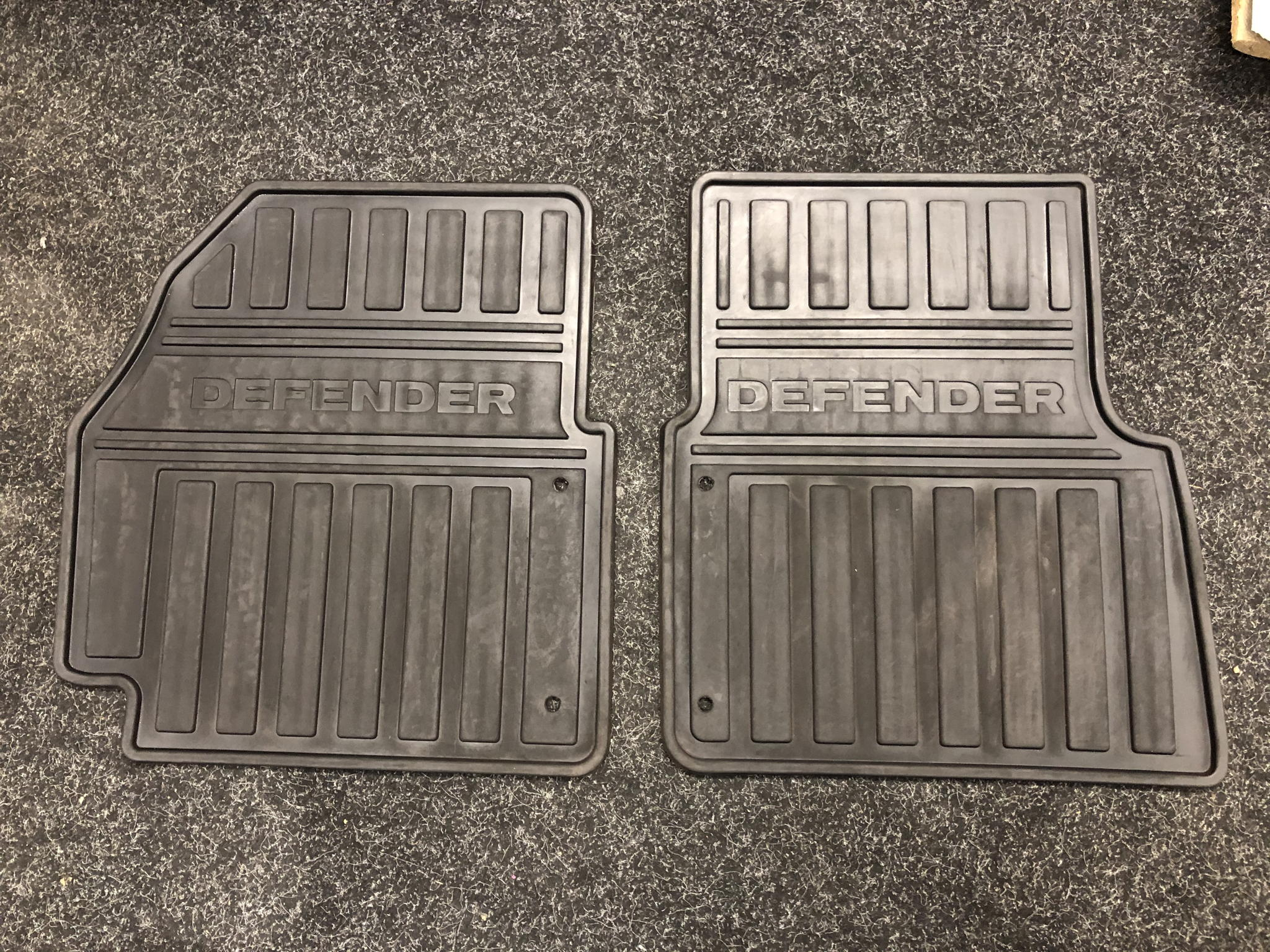 GENUINE LAND ROVER DEFENDER FRONT FOOTWELL FLOOR MATS VPLDS0147's featured image