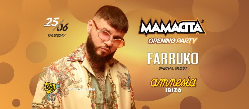 Tickets Mamacita 2020 Amnesia Ibiza, opening party Farruko, reggaeton Ibiza