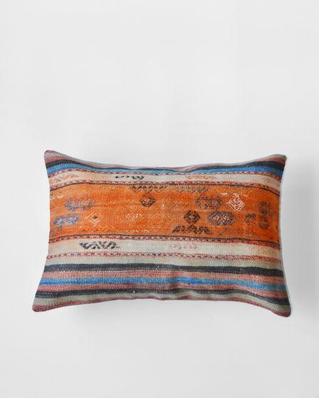 Декоративная подушка из ковра килим Orange
