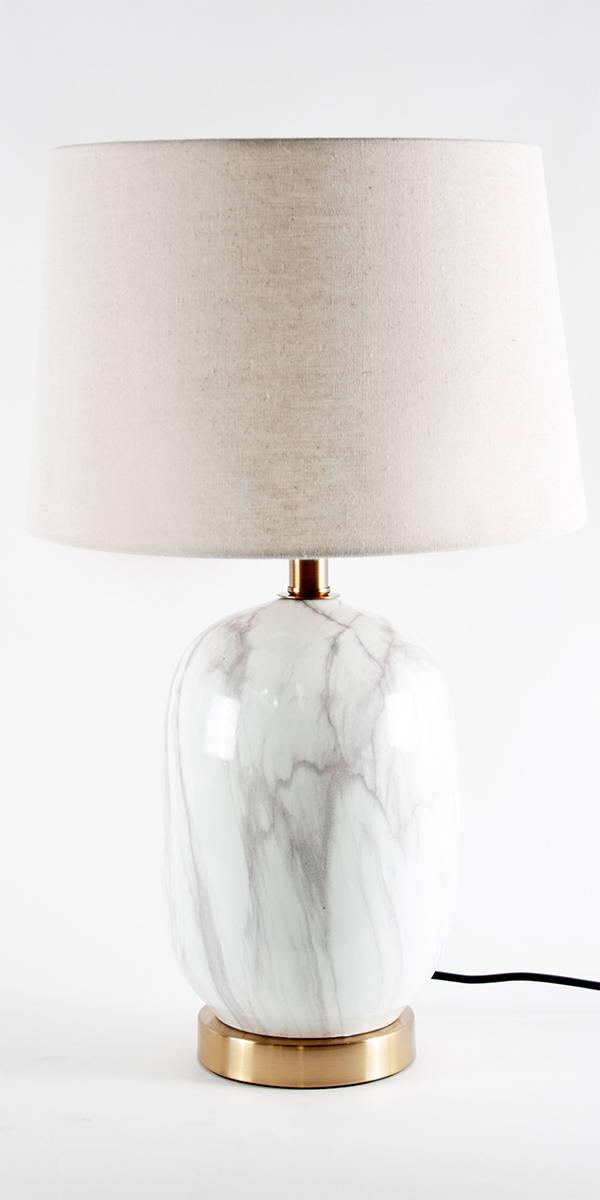 white marble ceramic lamp
