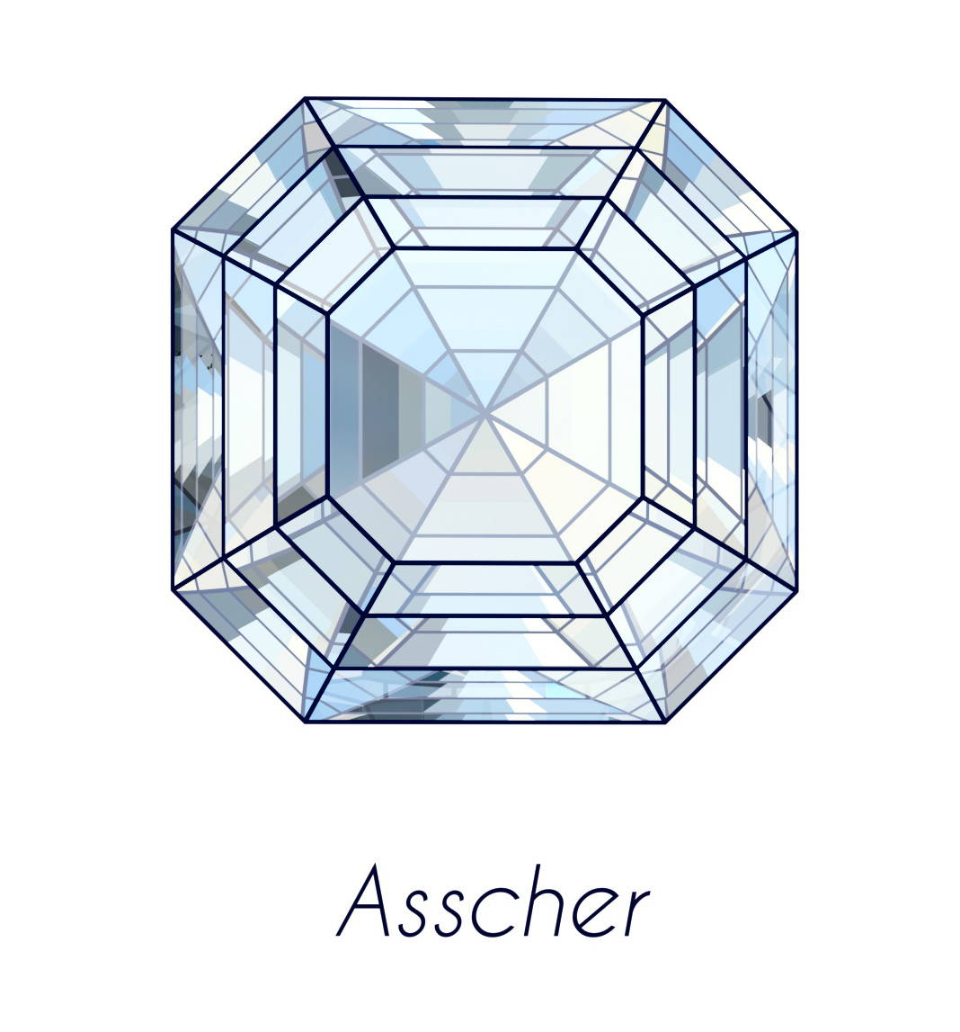 diamond asscher cut picture