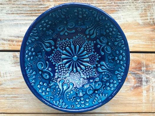 Маленькая керамическая пиала (голубая)