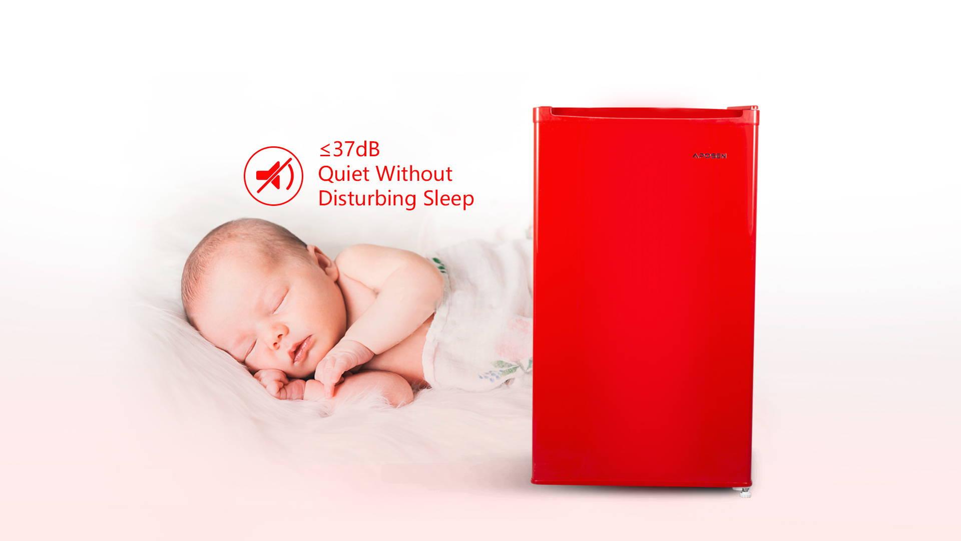 APOSEN New 3.2CU Red Refrigerator—AR32