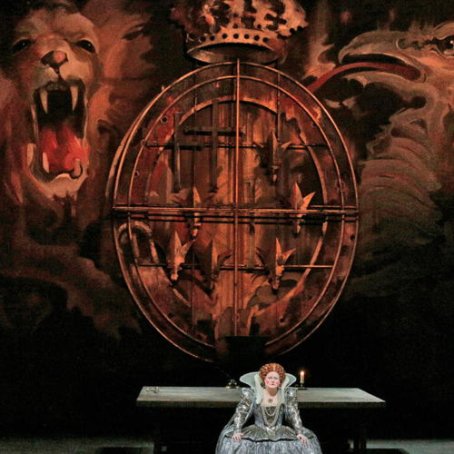 Picture of Donizetti's drama, focused on the political and personal rivalry between two queens, returns to the Met with Diana Damrau as the doomed Mary, Queen of Scots, and Jamie Barton as her rival,