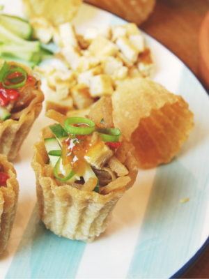 Crispy Pastry Tart with Yam Bean