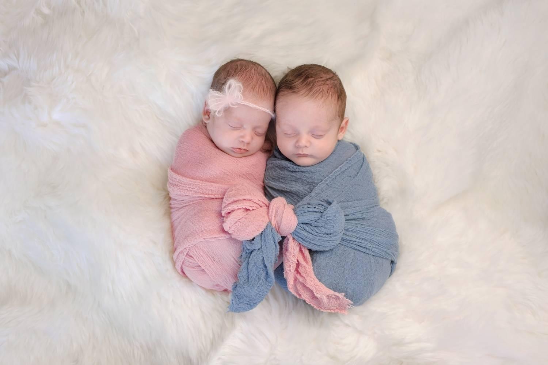 twin newborns photography