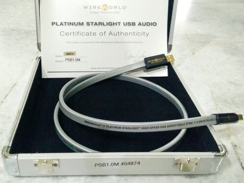 Wireworld Platinum Starlight USB - 1 meter Free shipping worldwide !