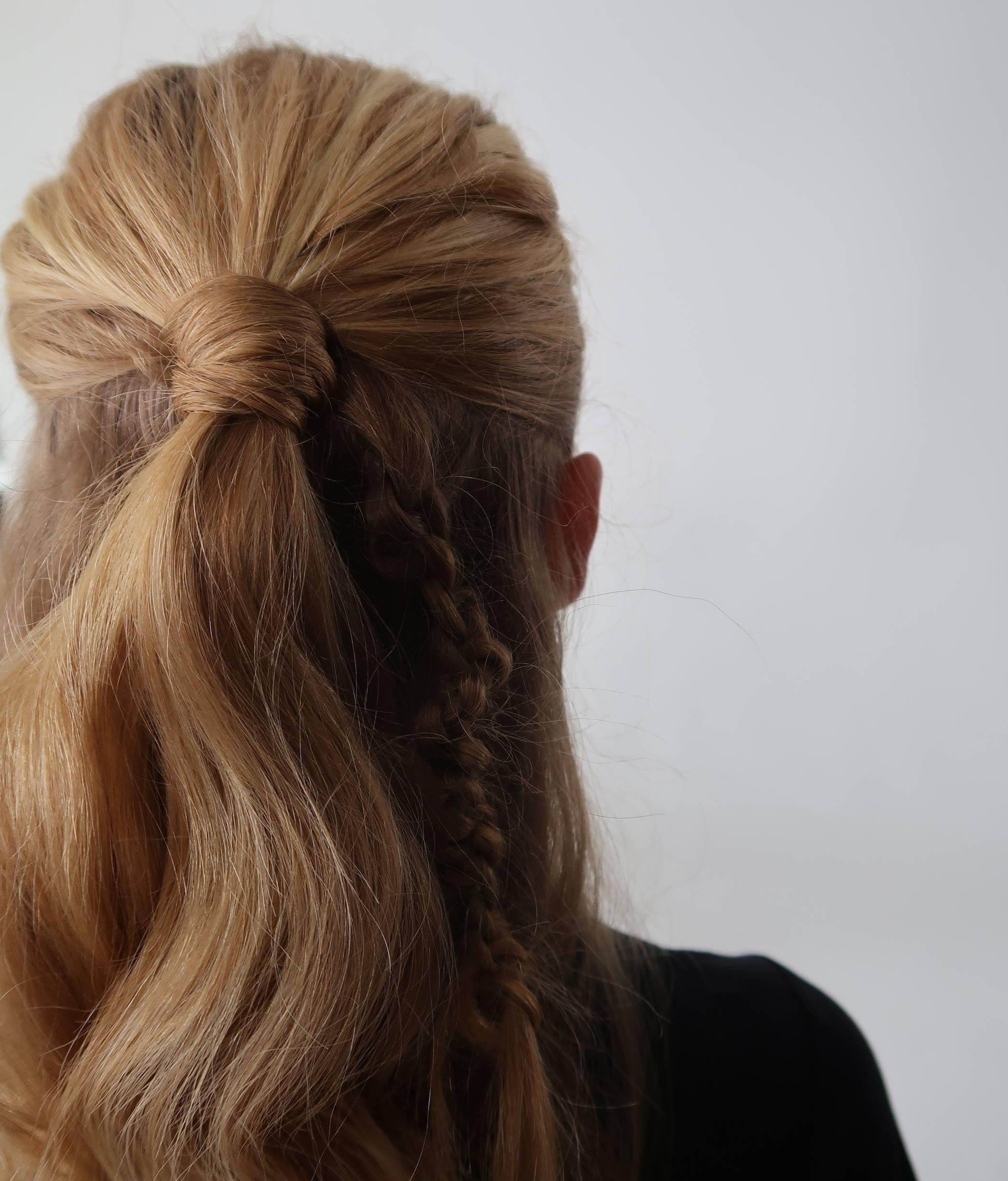 Davines half up half down hairstyle tutorial