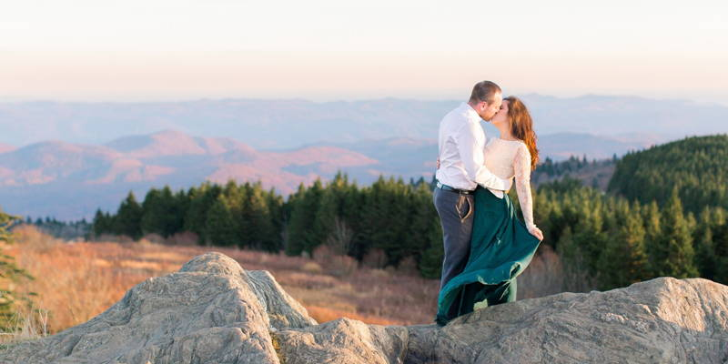 A Poem Proposal and Mountaintop Engagement Session