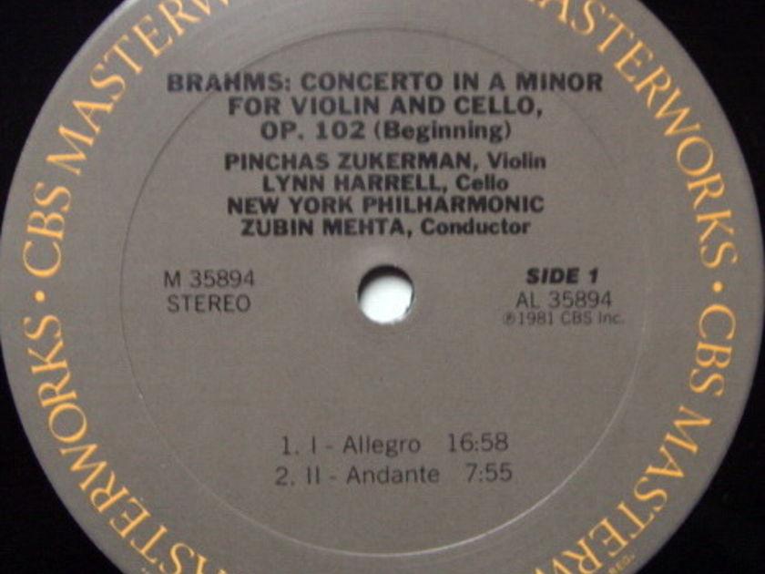CBS / ZUKERMAN-HARRELL, - Brahms Double Concerto, NM!