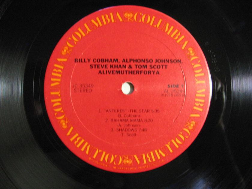 Billy Cobham · Khan · Alphonso Johnson - Scott - Alivemutherforya - 1978 Columbia JC 35349