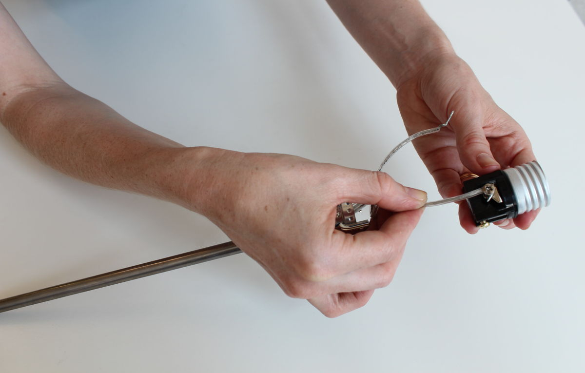 Wiring A Lamp Ribbed Wire