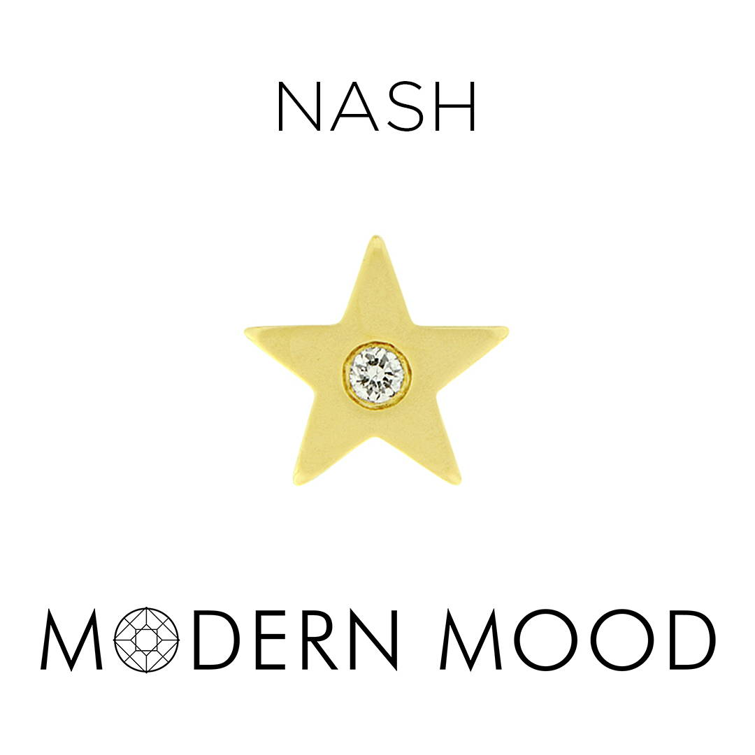 nash star diamond piercing jewelry