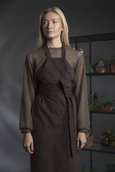 Платье-фартук с запахом