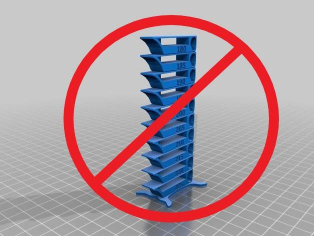 3D Printing Temperature Tower