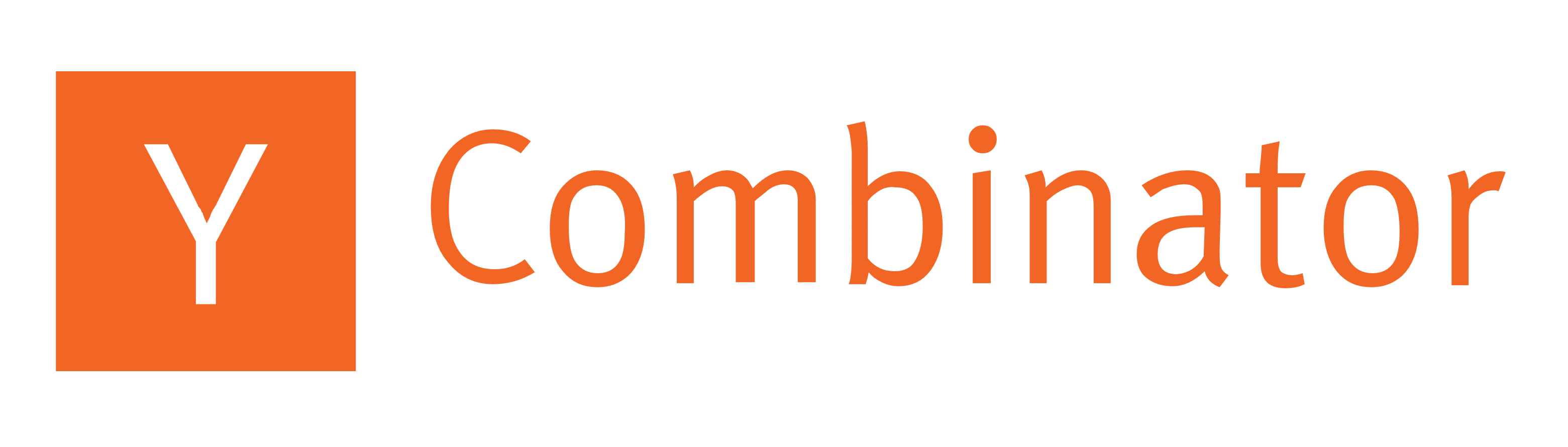 Y combinator logo text wordmark