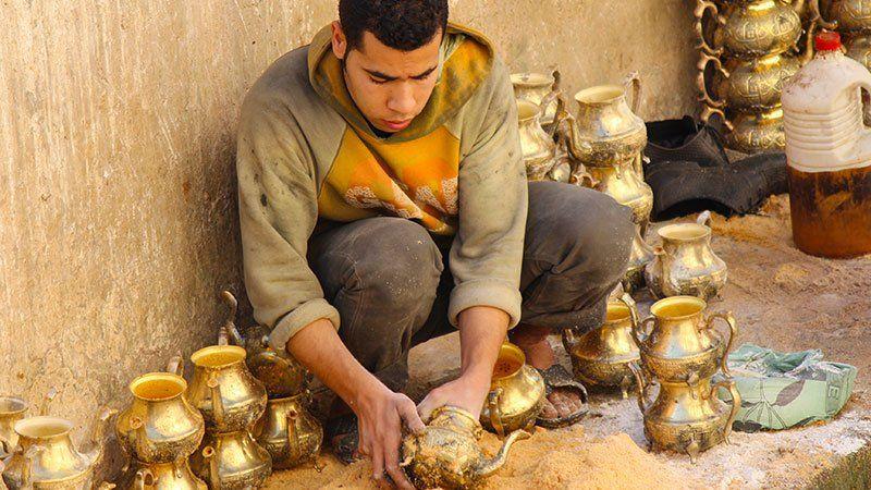 Making teapots, Fez, Morocco