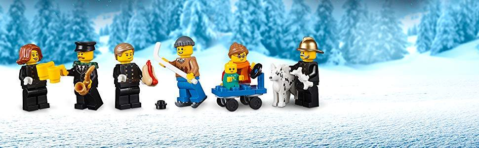 LEGO Winter Village Fire Station minifigures