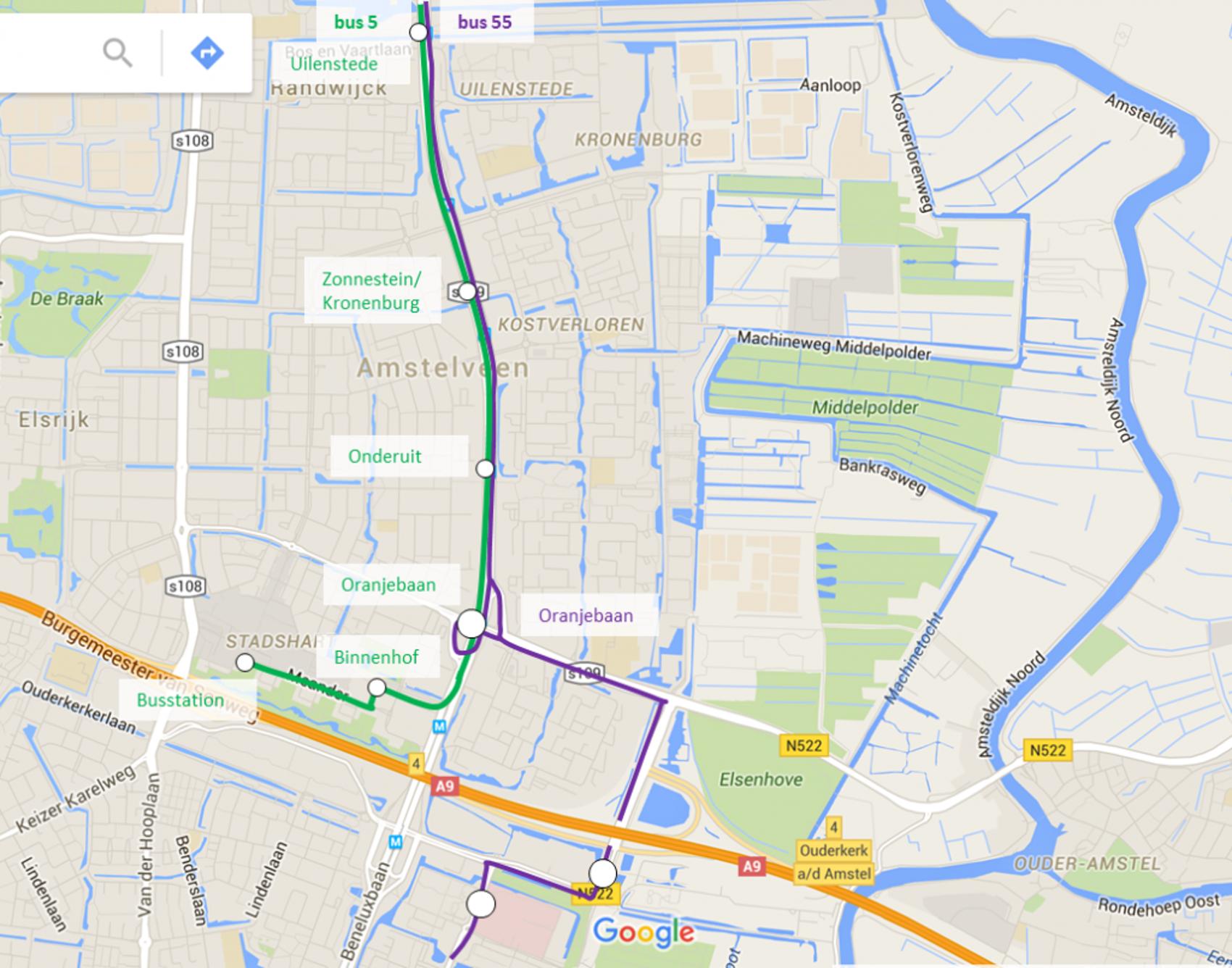 Amstelveenlijn Tijdelijk Ov In 2018 Tm 2020 Inzet Bus 55