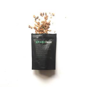 Granolust granola salé croquant romarin parmesan vegan