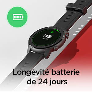 Amazfit GTR 47 mm - Longévité batterie de 24 jours