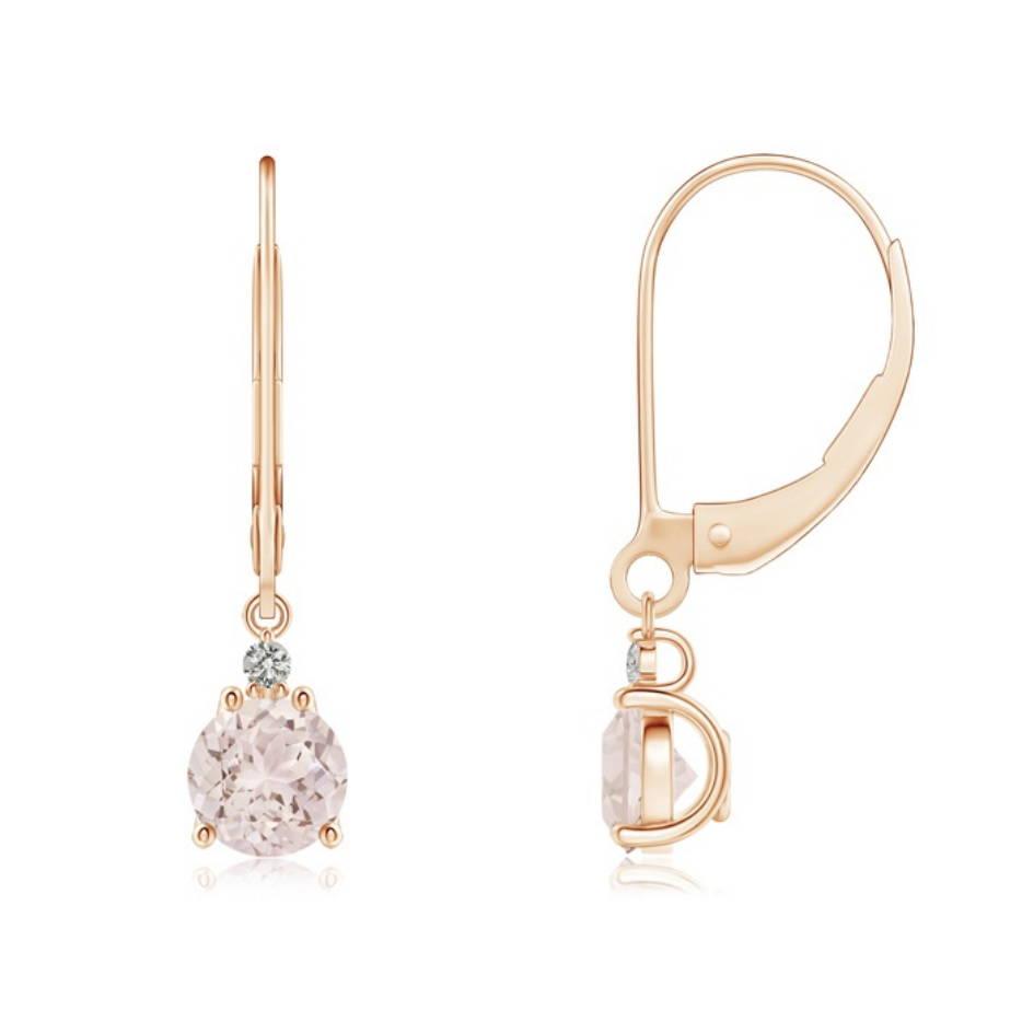 custom moissanite diamond bride earrings
