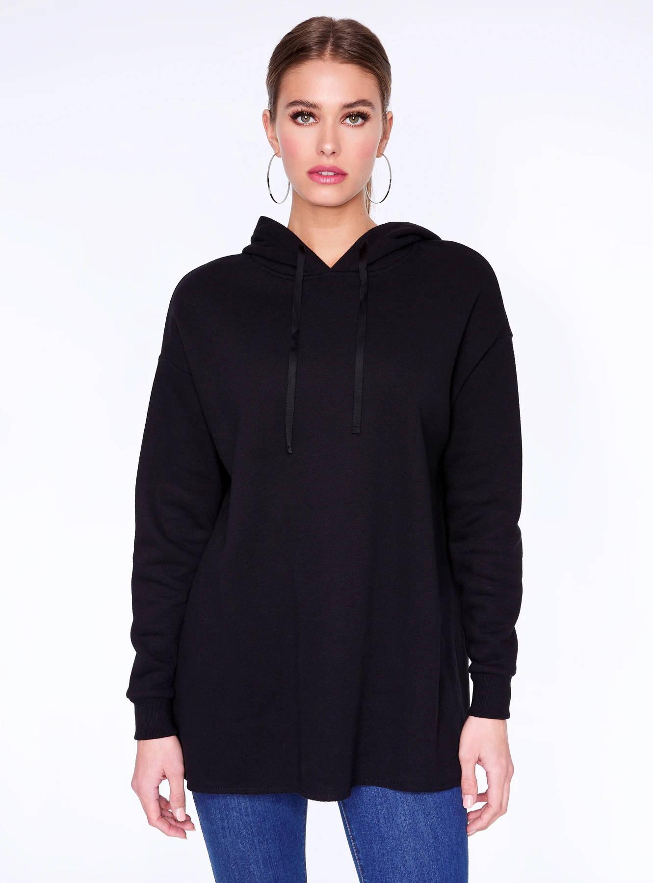 Basic Black Long Sleeve Hoodie