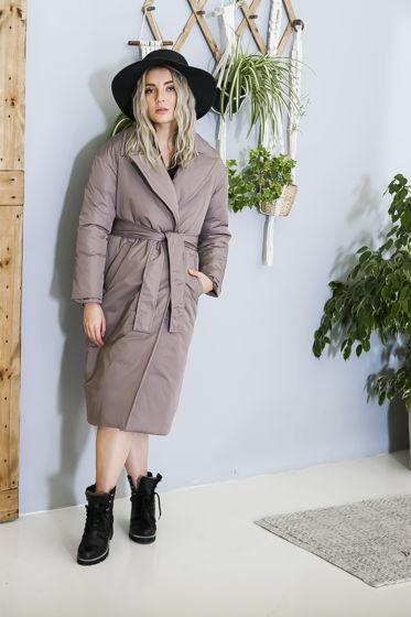 Зимнее пальто-пуховик с утеплителем альполюкс