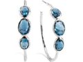 Ippolita London Blue Topaz Hoop Earrings