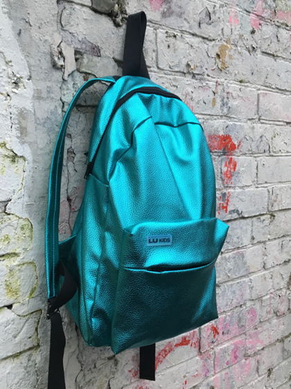 Рюкзак бирюзовый металлик