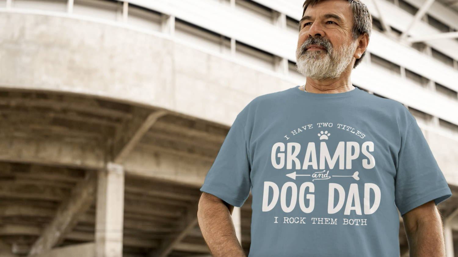 gramps and dog dad