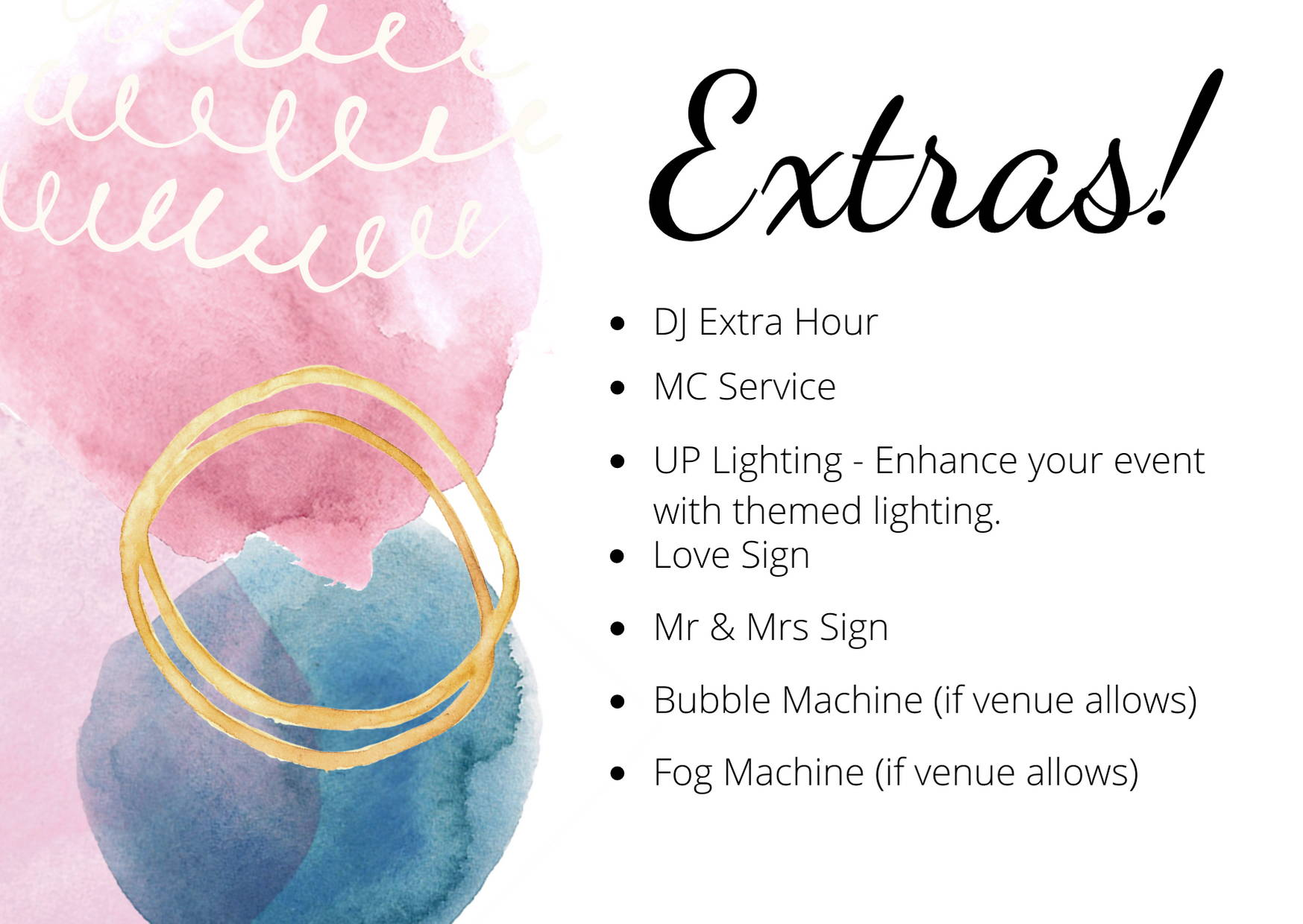 Photobooths Wedding Packages Extras