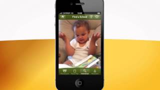 Picture of a toddler on a smartphone