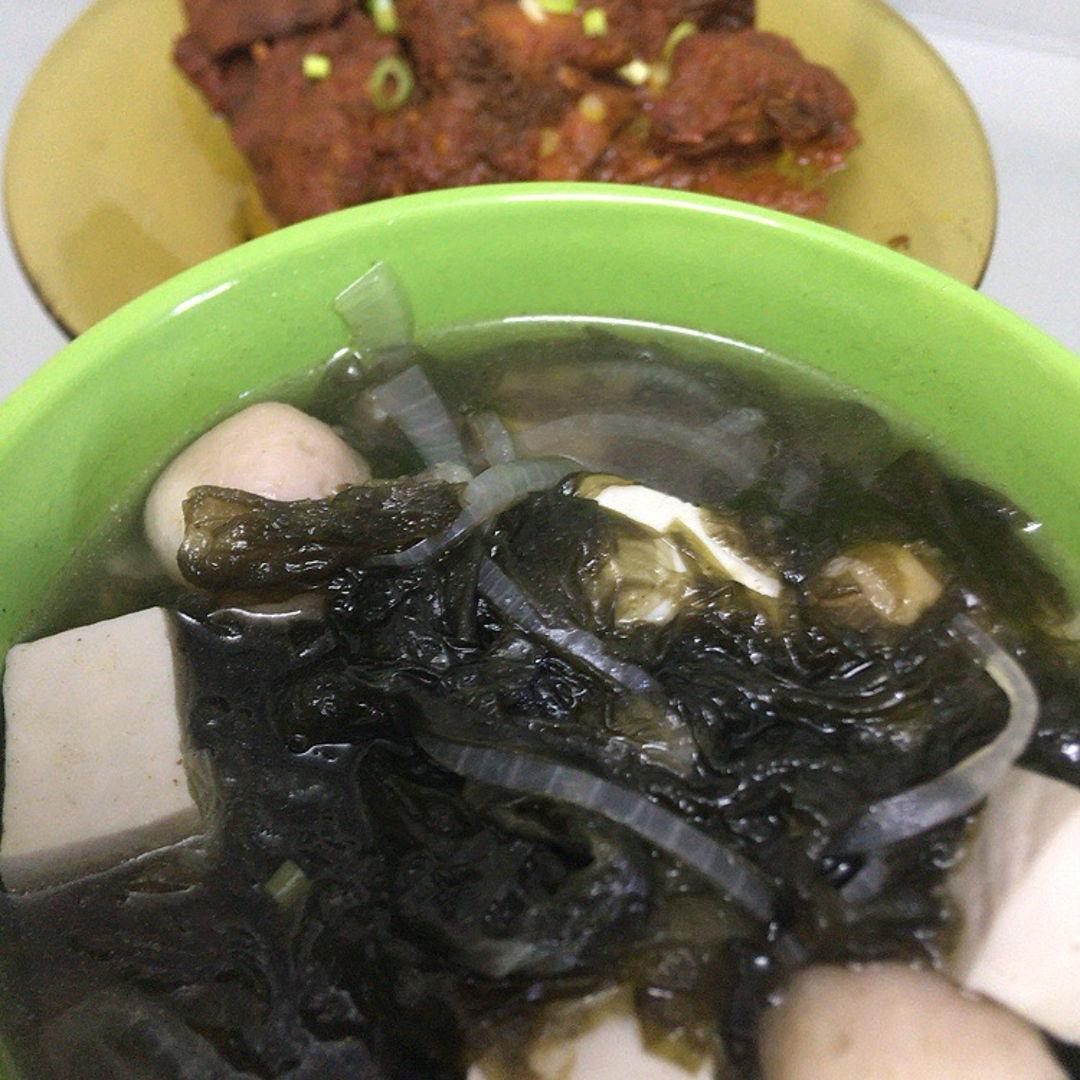 Seaweeds soup.