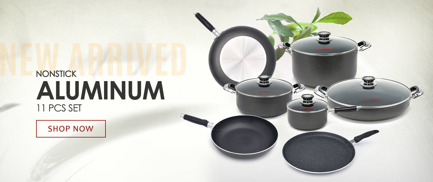 Ace Cook Nonstick Aluminum 11 PCS Set