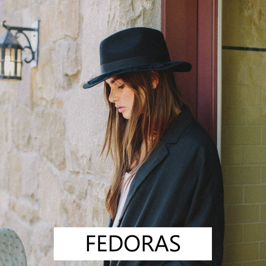 Fashionable women's fedoras for summer and winter.