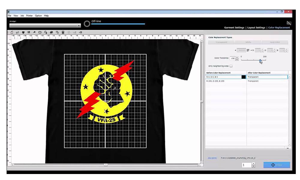 Epson SureColor F3070 Direct to Garment Printer Garment Creator Software