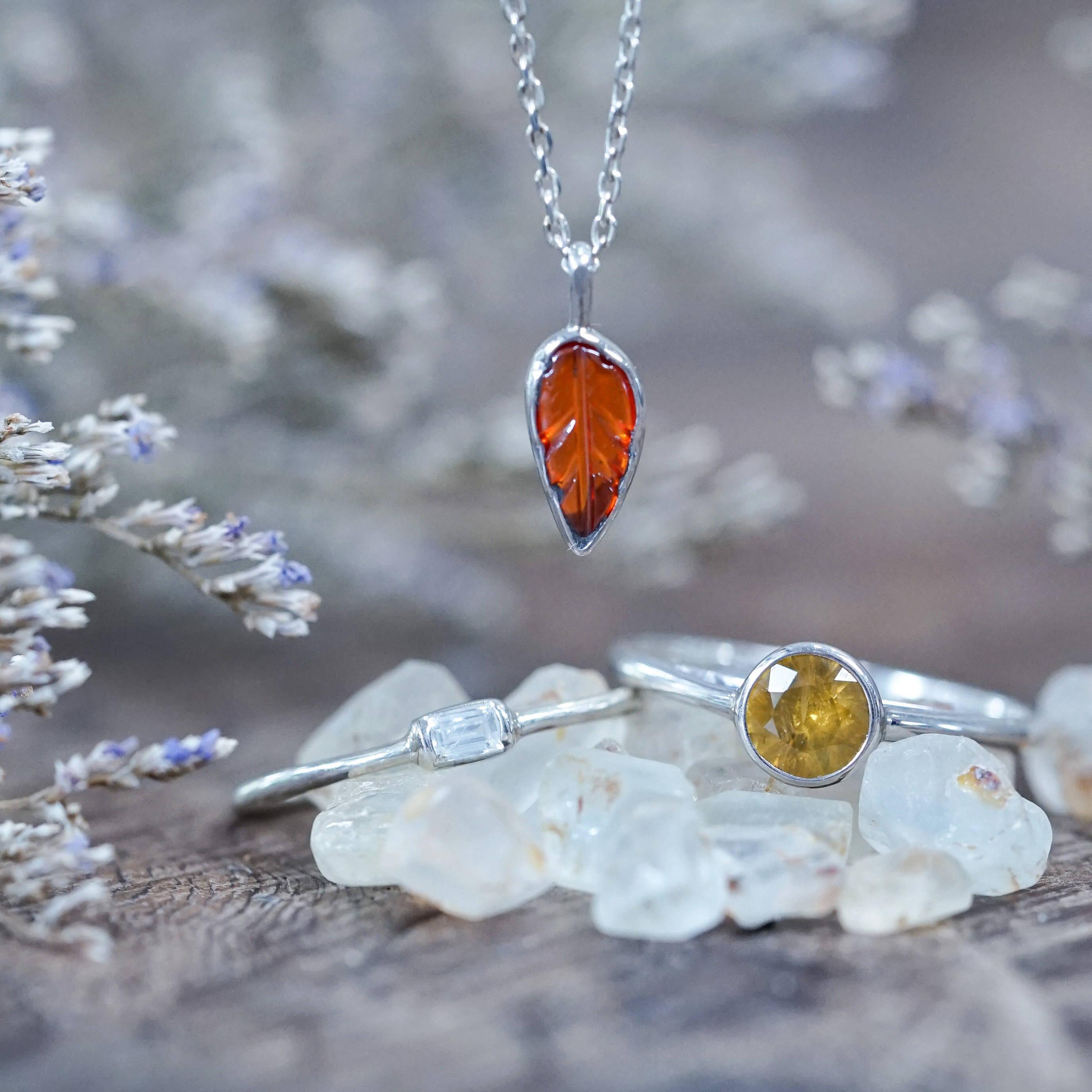 Silver zircon jewelry