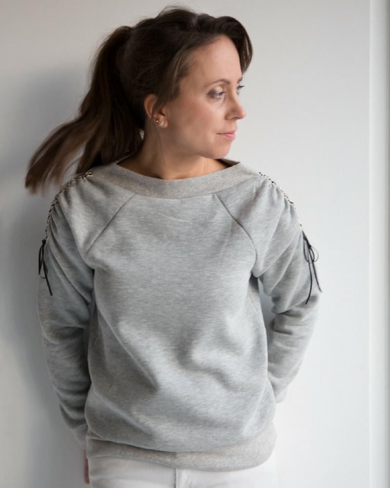GLDN luxe sweater grijs mêlée