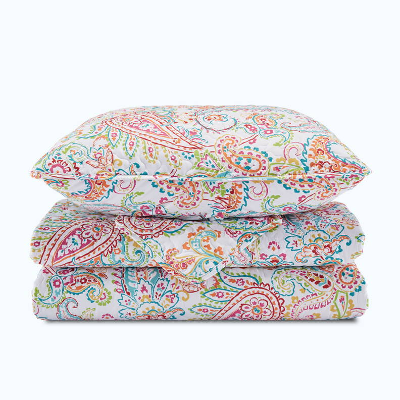 sleep zone bedding website store products collections printed quitl set classic paisley