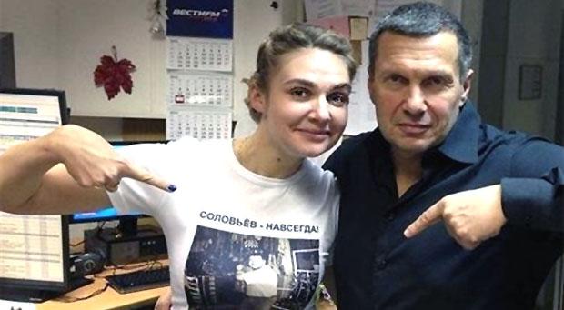Соведущая Владимира Соловьева написала скандальный пост о приговоре Егору Жукову - Новости радио OnAir.ru