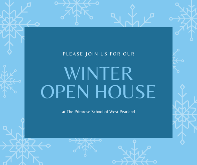 primrose west pearland; winter open house; january