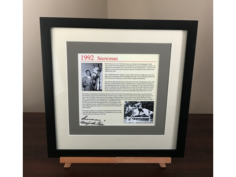 Framed Story of Harry and Snowman Signed by Harry de Leyer and Snowman
