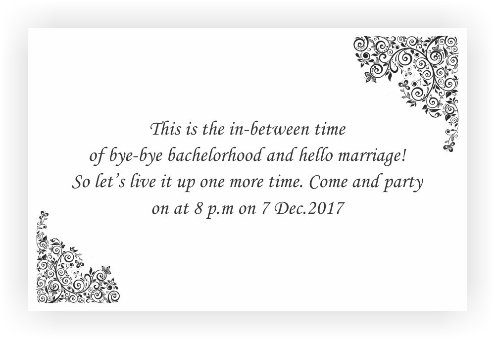 Bachelor Party Invitation Wordings – CHOCOCRAFT