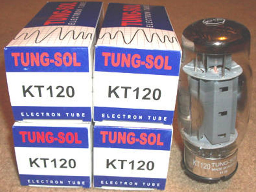 Tung Sol Tubes KT120 matched quads brand new