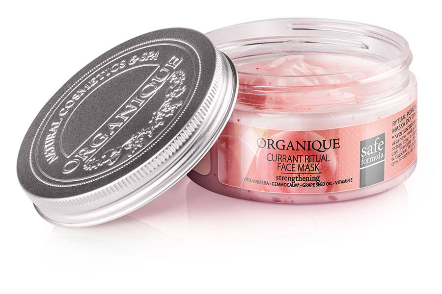 Organique Strengthening And Refreshing Face Mask With Currant 100ml box from naturalshop