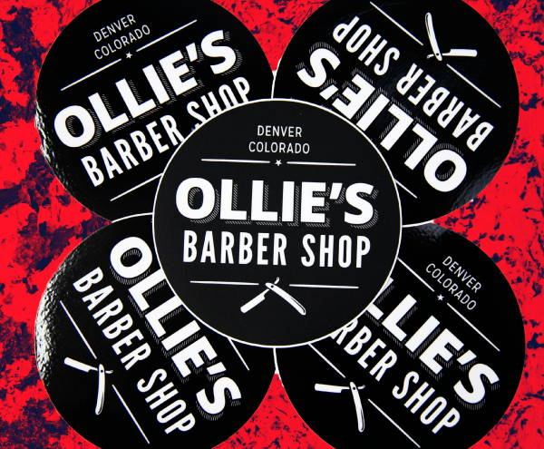 Stickers & Labels - Ollie's Barber Shop Stickers