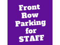 Front Row Parking Spot for STAOPCS Staff (Spring Semester)